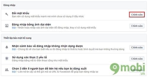cach doi mat khau facebook tren may tinh 4
