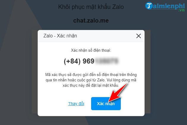 huong dan khoi phuc mat khau zalo pc tren web 4