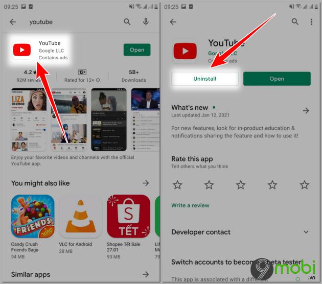 cach sua loi youtube tren android
