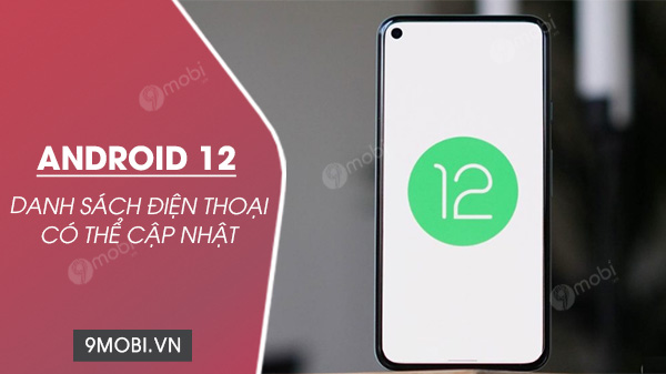 danh sach cac dien thoai android co the cap nhat len androdi 12