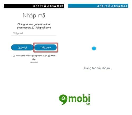 cach tao tai khoan skype tren dien thoai android iphone 4