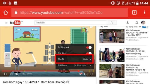cach chinh toc do video youtube nhanh cham tren android 4