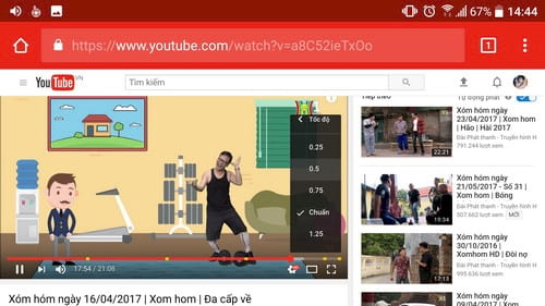 cach chinh toc do video youtube nhanh cham tren android 5
