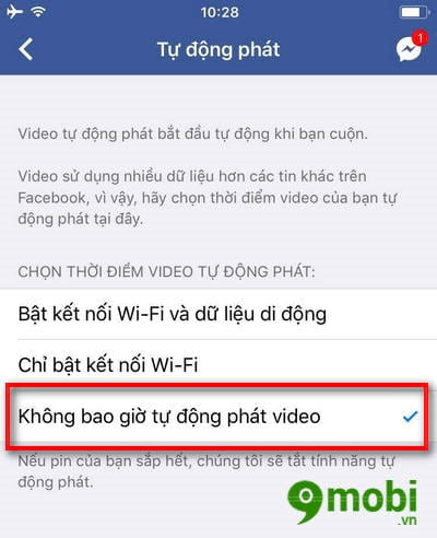 cach tat video facebook tu phat tren iphone 4
