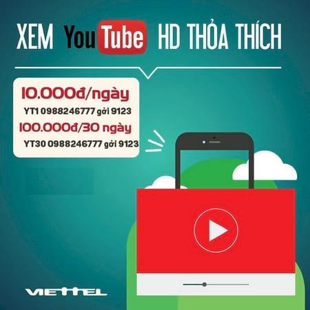 dang ky goi xem youtube cua viettel tren dien thoai 2