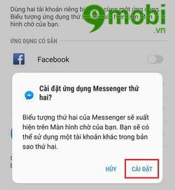 cach su dung 2 tai khoan facebook messenger tren samsung j7 pro 3