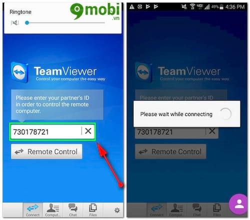 Hướng dẫn kết nối, điều khiển điện thoại Android với Team