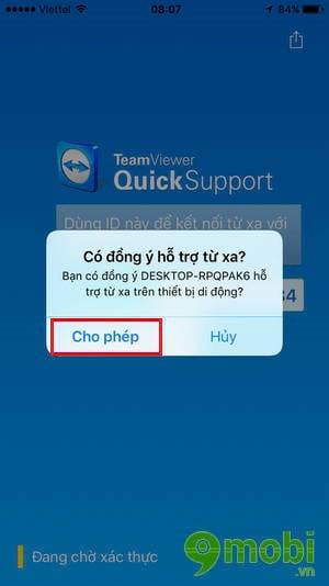 su dung teamviewer quicksupport truy cap ket noi iphone ipad tu xa 4