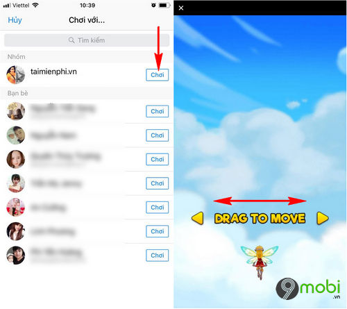 cach choi game ban may bay tren facebook messenger 4