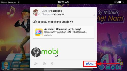 code au mobile vng 7