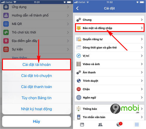 cach dang xuat facebook messenger tren iphone 6 6 plus 6s 6s plus 3