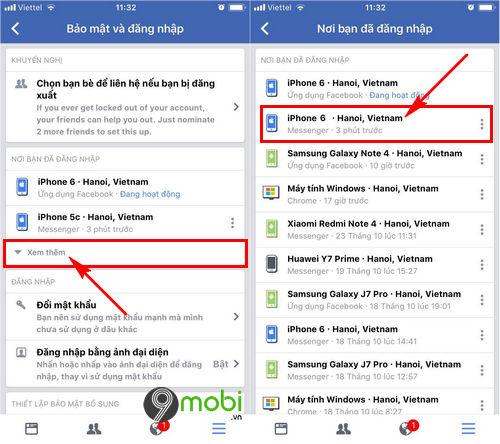 cach dang xuat facebook messenger tren iphone 6 6 plus 6s 6s plus 4