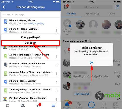 cach dang xuat facebook messenger tren iphone 6 6 plus 6s 6s plus 5