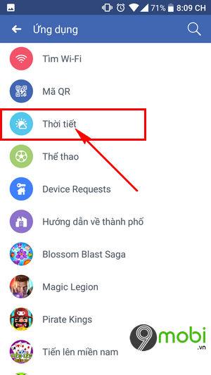 bat thong bao thoi tiet tren facebook 4