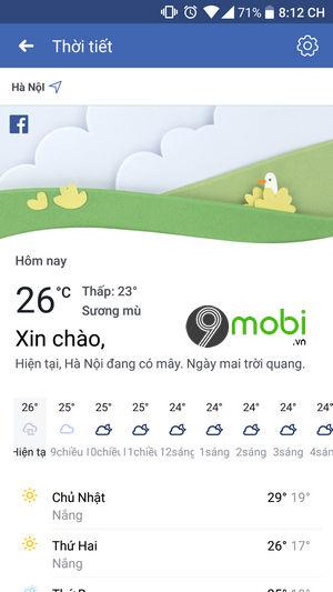 bat thong bao thoi tiet tren facebook 8