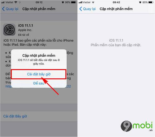 cach nang cap ios 11 1 1 qua ota itunes cho iphone ipad 4