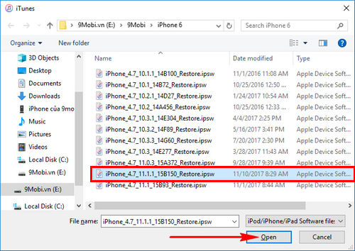 cach nang cap ios 11 1 1 qua ota itunes cho iphone ipad 7