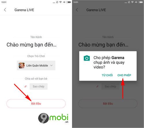 cach live stream lien quan mobile tren garena 5