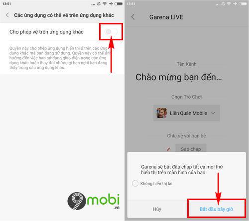 cach live stream lien quan mobile tren garena 6