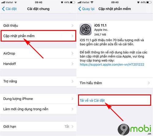 sua loi khong co dich vu tren iphone 8 8 plus va iphone x 8