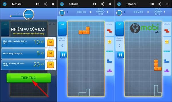 cach choi game xep gach tren facebook messenger 4