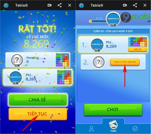 cach choi game xep gach tren facebook messenger 5