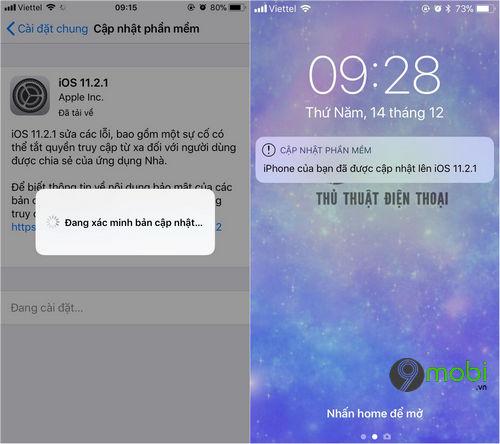 cach cap nhat ios 11 2 1 cho iphone ipad 5