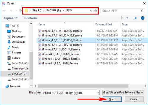 huong dan ha cap ios 11 2 1 tren iphone ipad 4