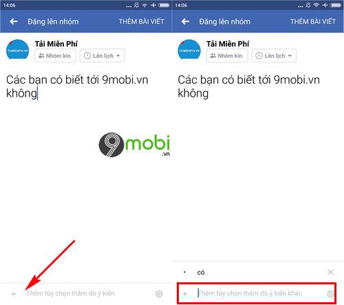 cach tao cuoc tham do y kien trong nhom facebook tren dien thoai 5