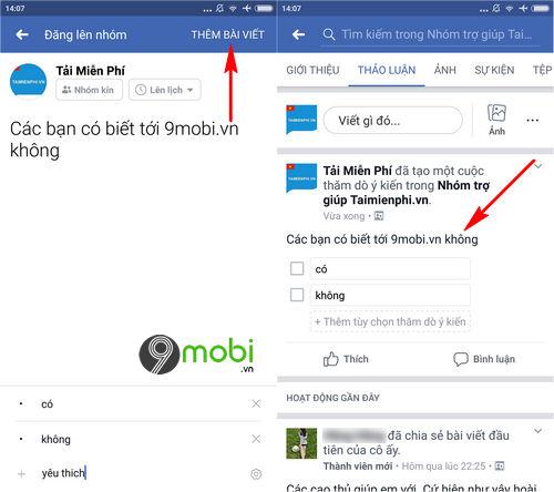 cach tao cuoc tham do y kien trong nhom facebook tren dien thoai 6