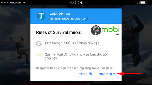 cach cai va choi rules of survival tren dien thoai 4