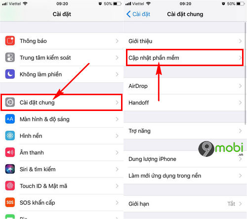 sua loi vang messenger tren iphone 4