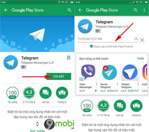 cach cai telegram cho dien thoai iphone android 3