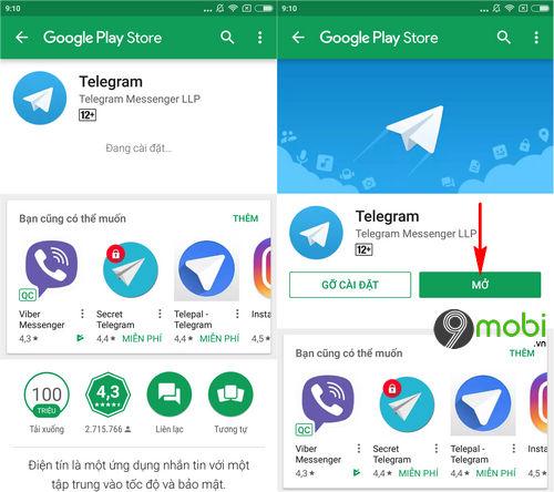 cach cai telegram cho dien thoai iphone android 4