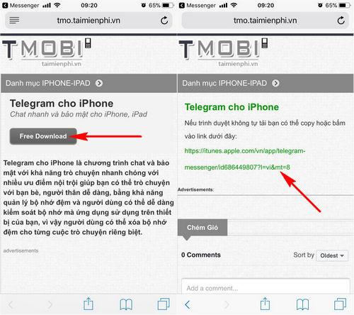 cach cai telegram cho dien thoai iphone android 5