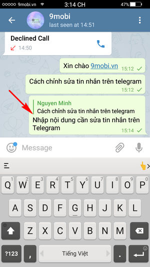 huong dan chinh sua tin nhan da gui tren telegram 6