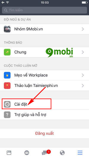 cach tat tu dong phat video trong facebook workplace 3