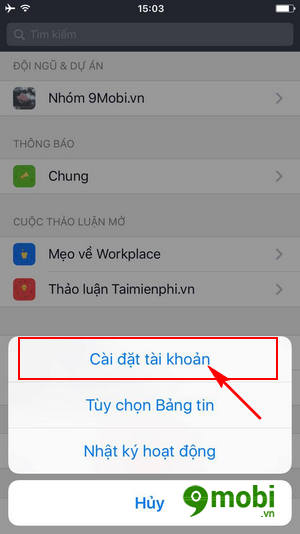 cach tat tu dong phat video trong facebook workplace 4