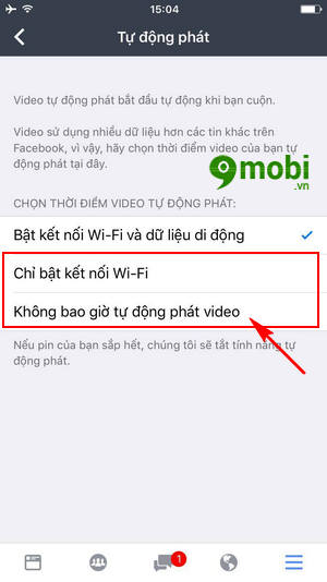 cach tat tu dong phat video trong facebook workplace 7