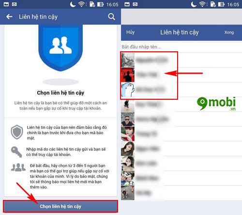 thiet lap lay lai mat khau facebook nho ban be 4