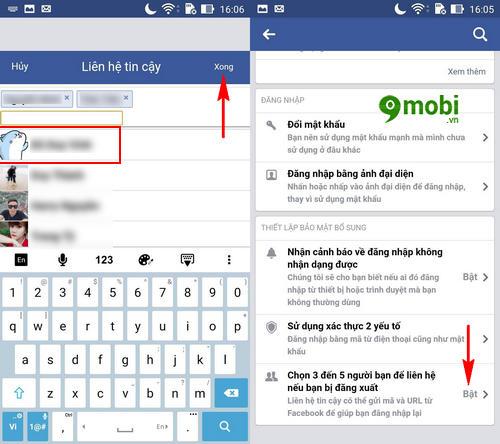 thiet lap lay lai mat khau facebook nho ban be 5