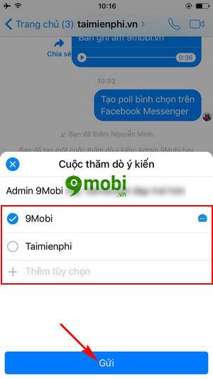 cach tao poll binh chon tren facebook messenger 9