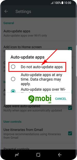 Tắt tự động cập nhật ứng dụng trên Samsung S8
