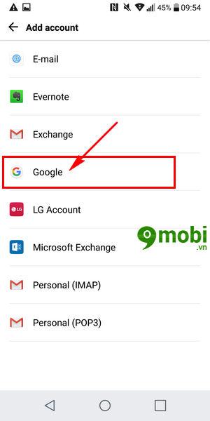 them tai khoan google tren lg g6 dang nhap tai khoan google 4