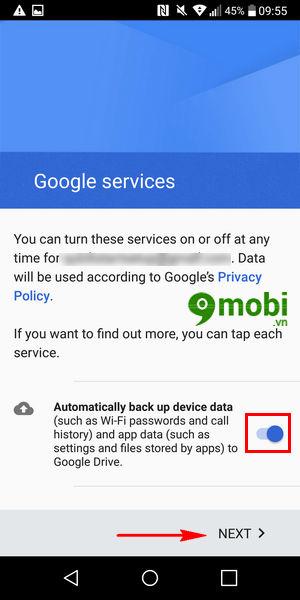 them tai khoan google tren lg g6 dang nhap tai khoan google 8