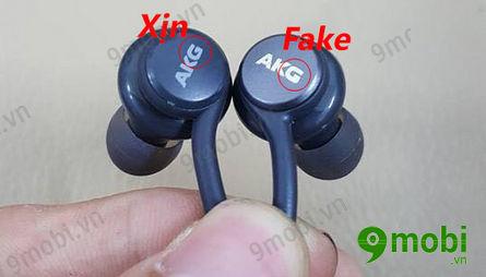 cach phan biet tai nghe akg samsung s8 that gia fake chinh hang 5