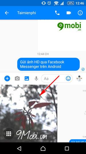 gui anh hd qua facebook messenger tren android 4