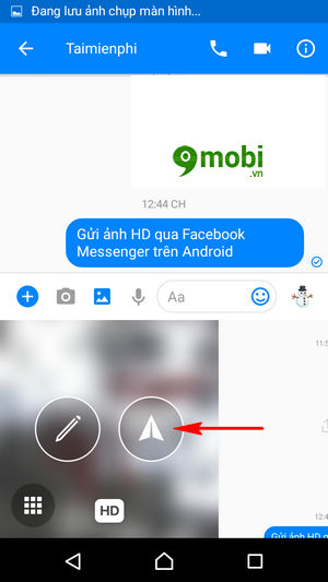 gui anh hd qua facebook messenger tren android 7