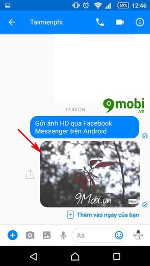 gui anh hd qua facebook messenger tren android 8