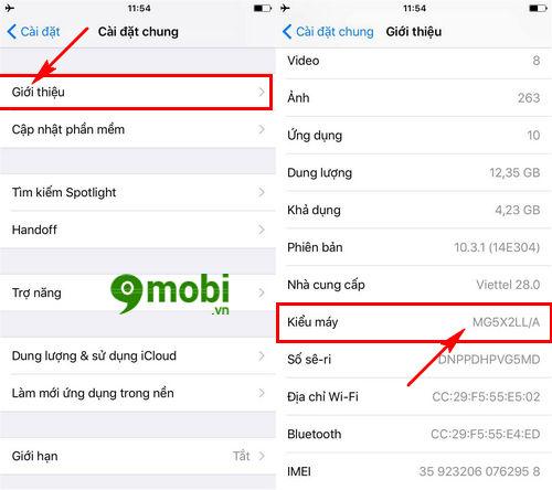 phan biet iphone chinh hang iphone tan trang va iphone troi bao hanh 3